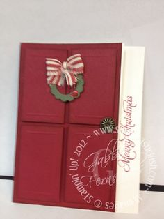 Stampin Up! Door Christmas Card