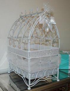 Crystal Bird Cage Wedding Card Holder!
