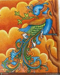 Discover Painting by Nirupama Mishra on Touchtalent. Touchtalent is premier online community of creative individuals helping creators like Nirupama Mishra in getting global visibility. Peacock Painting, Peacock Art, Fabric Painting, Lotus Painting, Pichwai Paintings, Indian Art Paintings, Kerala Mural Painting, Madhubani Painting, Indian Folk Art