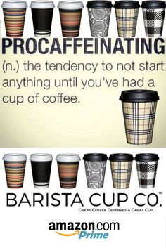 DON'T PUT IT OFF! IT'S NATIONAL COFFEE DAY, AND JUST FOR YOU WE HAVE A SPECIAL PROMO CODE 'TIL 10/1/16: amzpromoter.com/o/ICyL/BARISTACUPSGRIPPLECUPSNATLCOFFEEDAY