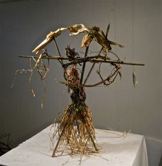 """CARCOSA, HBO-TRUE DETECTIVE-""""THE YELLOW KING"""" artist behind the show: devil nets, bird traps, set design, alter, antler crowns, Emmy nomination-outstanding art department. Woody Harrelson, Mathew McConaughey"""