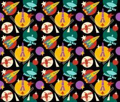 Peaceful Space fabric by oleynikka on Spoonflower - custom fabric