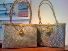 These handbags from @Maria Luisa are your statement about the way the world should be! They are made by women around the world under fair trade regulations. Each handbag is handcrafted from recycled materials such as unused newspapers and telephone books