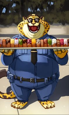Zootopia News Network: Comic: Clawhauser Donut Fail (by inubinko)