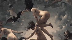 Witches going to their Sabbath by Luis Ricardo Falero (1878) from Beauty by Rino Tagliafierro