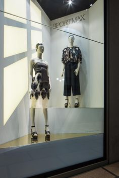 """La Rinascente, Milan, Italy, """"She has both feet on the ground"""", by SPORTMAX, pinned by Ton van der Veer"""
