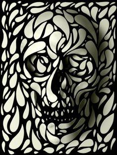 Graphic design art black and white  Synthia Zaman (synthia_92) on Pinterest