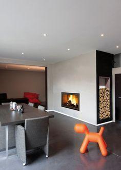 Cheminée design avec insert bois Bodart & Gonay. Design fireplace with wood insert Bodart & Gonay. www.atryhome.com