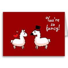 Fancy Llama Greeting Card