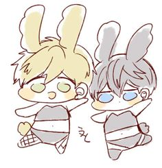 Bunny Makoto and bunny Haru // Free!