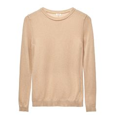Our wool cashmere sweater is a fresh take on the classic crewneck design. An easy layering piece with exposed seam details. Our crewneck sweater is knitted in Italy with an ultra-soft Italian wool-cashmere blend. Wardrobe Fails, Wardrobe Capsule, Fall Wardrobe, Silk Coat, Look Magazine, Sweater Shop, Sheer Dress, Luxury Fashion, Fashion Trends