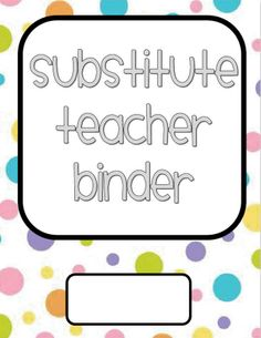 Awesome sub binder ideas and printouts