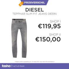 Dagelijks vindt Fasha grote prijsverschillen tussen webshops die hetzelfde artikel of dezelfde artikelen aanbieden voor verschillende prijzen. De prijsvergelijker van Fasha ontdekt deze verschillen en geeft de verschillende prijzen uit de aangesloten webshops weer bij hetzelfde artikel. Je hoeft dus niet langer meer zelf alle webshops te vergelijken, dit doet Fasha al voor jou! Shop deze jeans nu voor de beste prijs via…