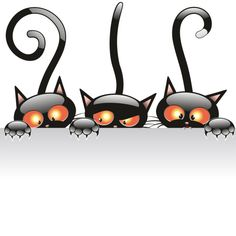 tubes Halloween ❤ liked on Polyvore featuring backgrounds, halloween, cats, animals and decor