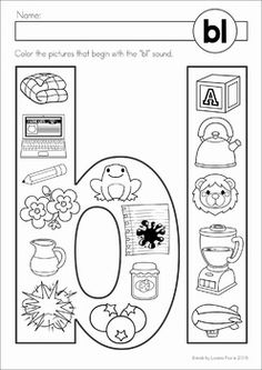 FREE Beginning blends Color It! activity