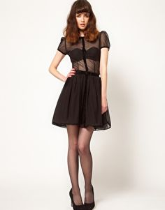 Wheels and Dollbaby La Petite Robe Noir Picnic Dress with Belt // this might be the perfect dress