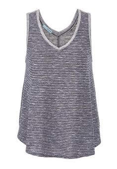 striped tank with th