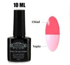 Lak na nehty měnící barvy dle teploty světle růžová - lak na nehtyPošta Zdarma