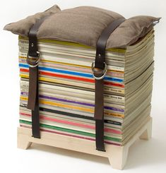 With the Hockenheim Stool you can stack your periodicals and magazines in style plus enjoy a cool and clever seating piece. You have the option of getting it in newspaper or magazine size. Stack up, sit down and enjoy your reading.
