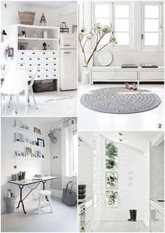 White Minimalist Decor Inspiration - It's terrible how much I love the color white, considering how much I also love red wine.