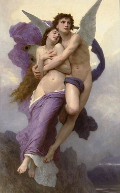 Adolphe-William Bouguereau   1825-1905  Cupid and Psyche