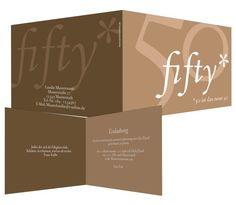 Fifty Fifty Eine hundertprozentig gelungene Idee, das Design fifty-fifty. Flott, präzise und höchstpersönlich. Na, wenn das nicht zum Geburtstagskind passt. Möchte jemand auf diese schicke Feier verzichten? Das steht nicht zur Diskussion.