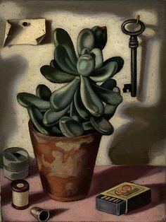 Tamara de Lempicka (1898-1980) ~  Still Life with Succulent, circa 1952