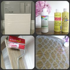Tutorial on how to stencil curtains without using costly fabric paint.