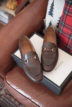 Brown Gucci Jordaan loafers.
