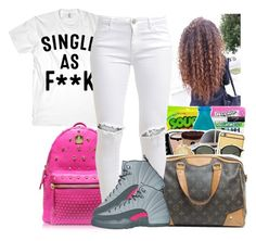 """Untitled #1150"" by chynaloggins ❤ liked on Polyvore featuring MCM and FiveUnits"