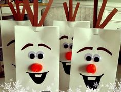 5. Treat Bags - 7 Adorable and Funny Olaf DIY Projects for a Frozen-Inspired Party ... → DIY