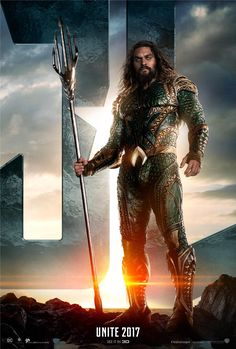 JUSTICE LEAGUE Character Posters Begin To Roll Out With Jason Momoa As AQUAMAN