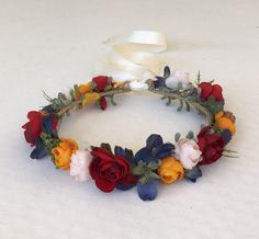 Fall Flower Crown Flower Girl Flower Crown Child by FlowerHungry