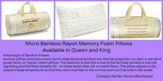 Clara Clark Memory Foam Pillow Free Home Delivery Tax Included Standard $38 King $40