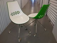 Calligaris Jam Dining Chairs Spider Legs (with Caster) X2