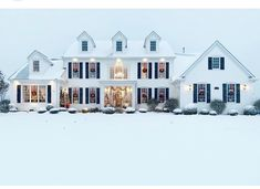 """""""It's Beginning To Look A Lot Like Christmas""""! This time of year just warms my heart with so many sweet memories of family and traditions! Dream House Exterior, Dream House Plans, Classic Home Decor, Classic House, Home Upgrades, Modern Farmhouse Decor, House Goals, Future House, Beautiful Homes"""
