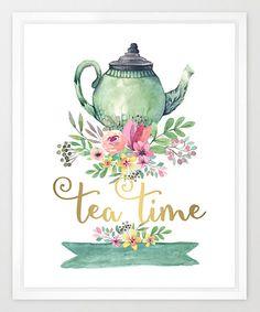 Look at this #zulilyfind! 'Tea Time' Watercolor Print #zulilyfinds
