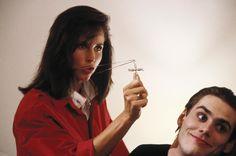ONCE BITTEN, Karen Kopins, Jim Carrey, 1985 | Essential Film Stars, Jim Carrey http://gay-themed-films.com/film-stars-jim-carrey/