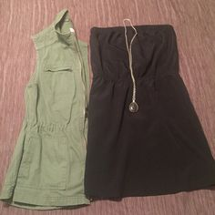 """Express Dress Strapless dress from Express. Super comfortable. Elastic top and waist. Comes from non smoking/pet home. Length is 16"""".  100% polyester, fully lined. Express Dresses Mini"""