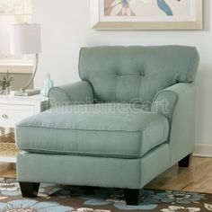 Signature Design by Ashley Kylee Lagoon Blue Fabric Chaise Lounge - Overstock™ Shopping - Great Deals on Signature Design by Ashley Living Room Chairs Oversized Chaise Lounge, Leather Chaise Lounge Chair, Chaise Lounges, Lounge Chairs, Oversized Chair, Comfy Chair, Lounge Design, My Living Room, Living Room Chairs