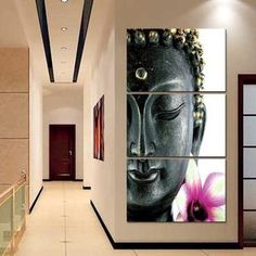 Lotus Buddha Multi Panel Canvas Wall Art by ElephantStock is printed using High-Quality materials for an elegant finish. We are the specialists in Modern Décor canvas prints and we offer 30 day Money Back Guarantee Buddha Canvas, Buddha Wall Art, Buddha Painting, Buddha Head, Canvas Wall Decor, Canvas Artwork, Canvas Art Prints, Painting Canvas, Canvas Paintings