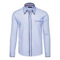 Pánska košeľa s dlhým rukávom svetlo modrej farby - fashionday.eu