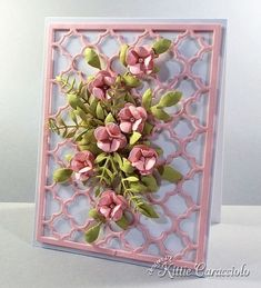 Quatrefoil Floral Spray by kittie747 - Cards and Paper Crafts at Splitcoaststampers