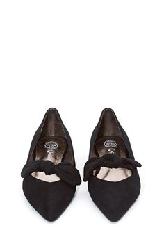 bowed suede flats ❤