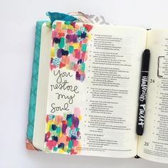 Bible Journaling by @bekahblankenship