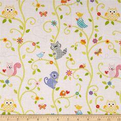 "Free Spirit Fabrics' Animal Tree - Pink Designer : Dena Designs Collection : Happi - 100% Cotton, 43/44"" - Available at http://www.popularfabric.com/en/buy/i/Dena_Designs_Animal_Tree_-_Pink"