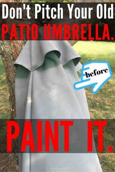 Don't pitch that faded patio umbrella! PAINT IT! - How to Paint an Outdoor Umbrella ella ella eh eh. Outside Umbrellas, Large Patio Umbrellas, Painting Tips, Fabric Painting, Outdoor Projects, Diy Projects, Outdoor Crafts, Outdoor Decor, Outdoor Furniture