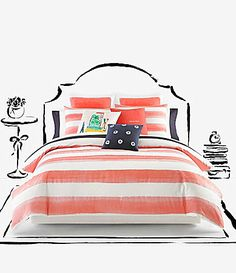 kate spade new york Painted Rugby-Striped Twill Comforter Mini Set - $179.99