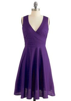 Beguiling Beauty Dress in Purple, #ModCloth