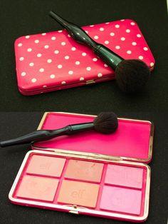 DIY blush palette, blush depot into a gutted wallet